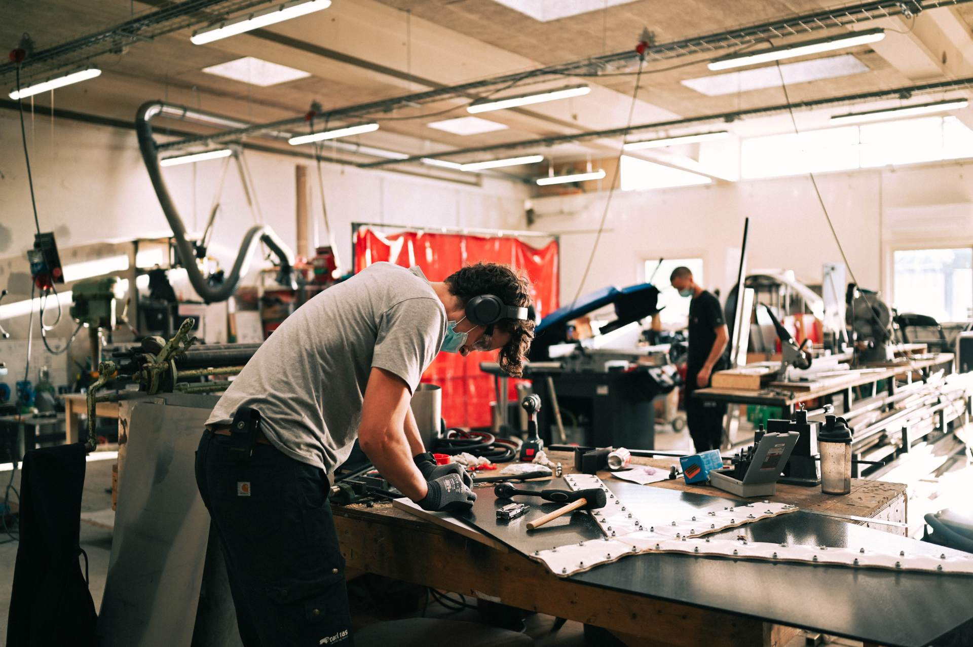 Karl in our metal workshop